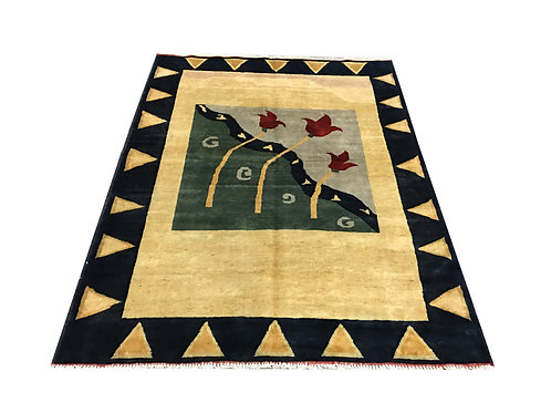 "10608 Contemporary 4'11"" X  6' 6"" Wool Afg Area Rug"