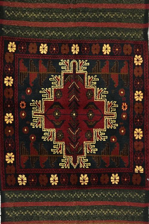 "10842 Belluchi 2' 8"" X  4'11"" Wool Pakistani Area Rug"