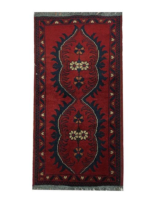 "10732 Turkishkmen 1' 8"" X  3' 3"" Wool Afg Area Rug"