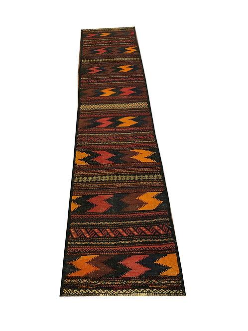 """10587 Kilim 1'11"""" X  9' 6"""" Wool Pakistani Area Rug"""