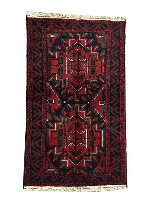 """10659 Belluchi 2'11"""" X  4'11"""" Wool Afg Area Rug"""