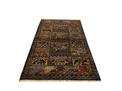 "10269 Belluchi 3'10"" X  7' 0"" Wool Pakistani Area Rug"