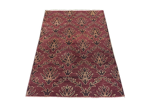 """10812 Contemporary 3' 4"""" X  4'10"""" Wool Afg Area Rug"""