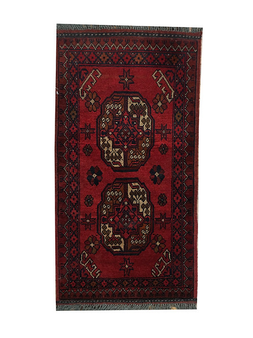 "10379 Turkishkmen 1' 8"" X  3' 3"" Wool Afg Area Rug"