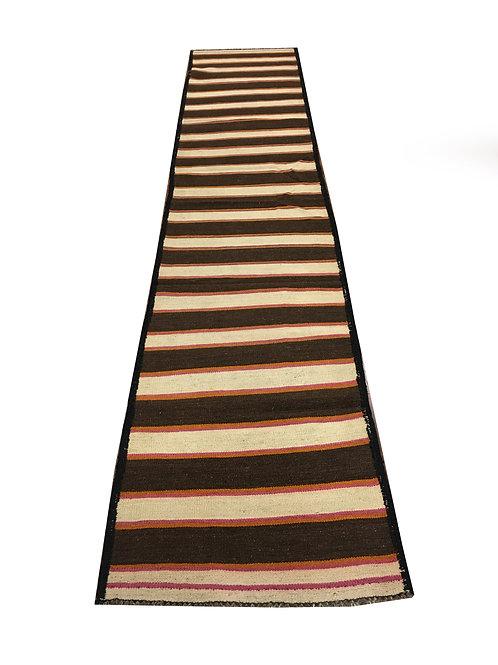 """10778 Kilim 2' 5"""" X 12' 1"""" Wool Pakistani Area Rug"""