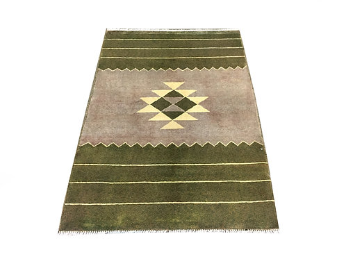"""10750 Contemporary 3' 3"""" X  4' 8"""" Wool Afg Area Rug"""