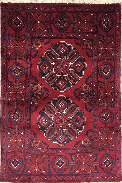 "10256 Kunduz 2' 7"" X  3'10"" Wool Afg Area Rug"