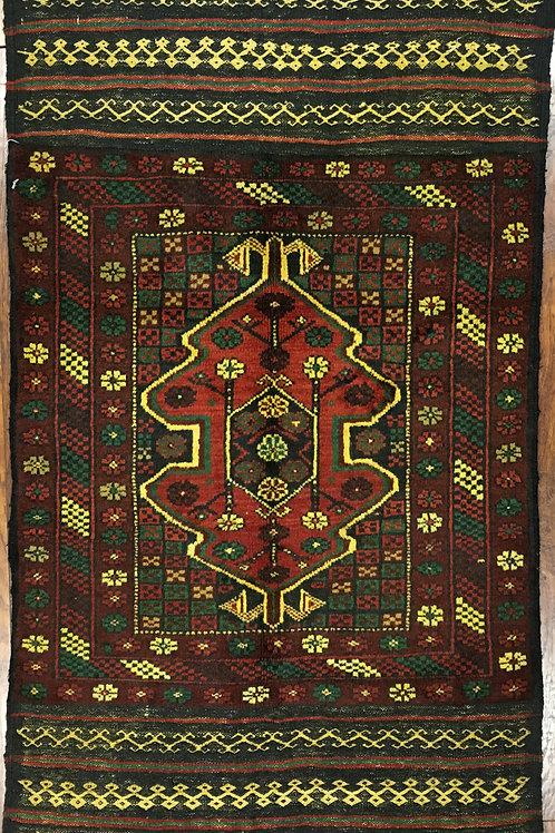 "10691 Belluchi 2' 7"" X  4' 6"" Wool Pakistani Area Rug"