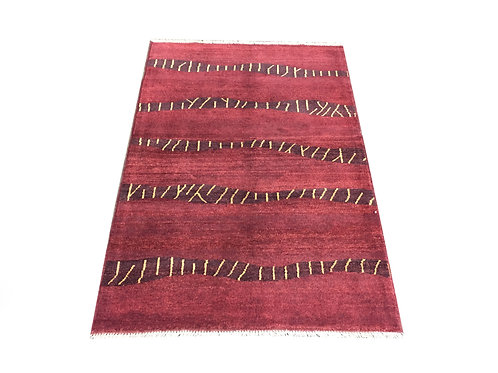 "10770 Contemporary 3' 4"" X  4'10"" Wool Afg Area Rug"