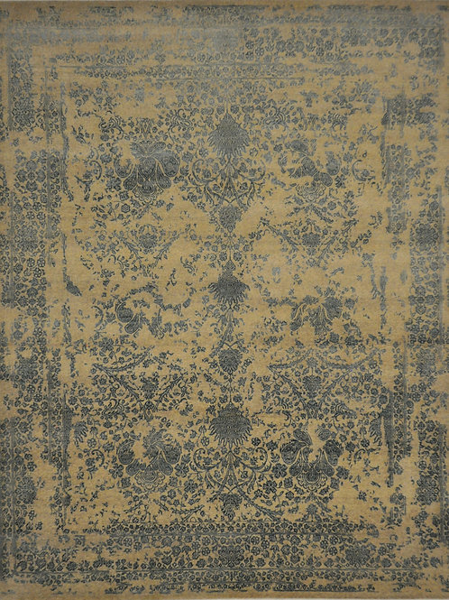 """4336 GLAZE 8' 0"""" X 9' 9"""" Wool & Artificial Silk"""