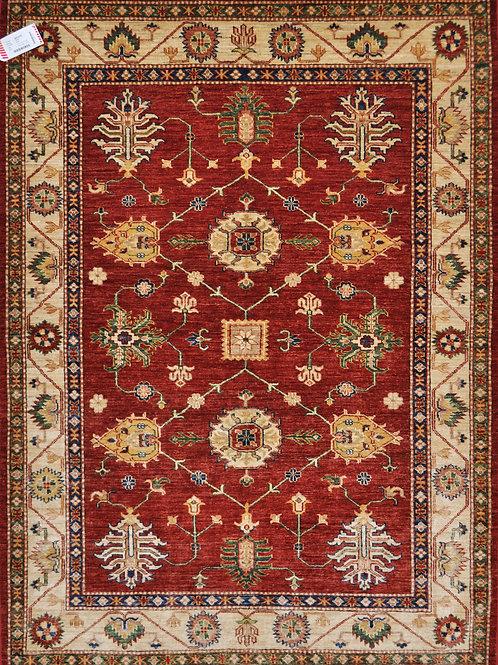 """1375 KAZAK 4' 11"""" X  6' 9"""" Wool"""
