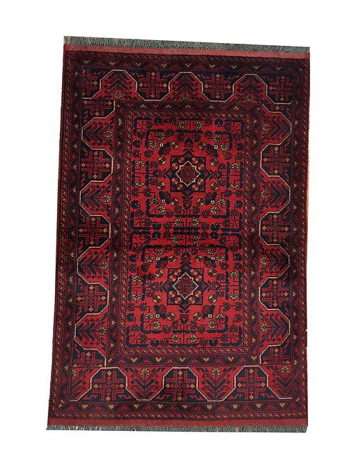 "10858 Turkishkmen 3' 3"" X  4' 9"" Wool Afg Area Rug"