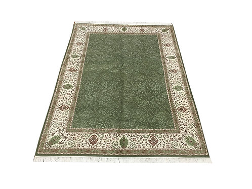 """11037 Floral 5' 7"""" X  7' 7"""" Wool And Artifial Silk  Area Rug"""