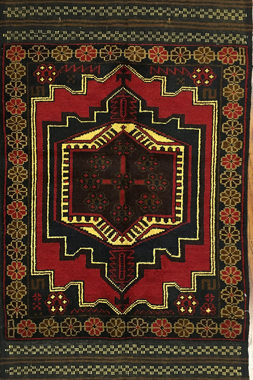 "10082 Belluchi 2' 7"" X  4' 9"" Wool Pakistani Area Rug"