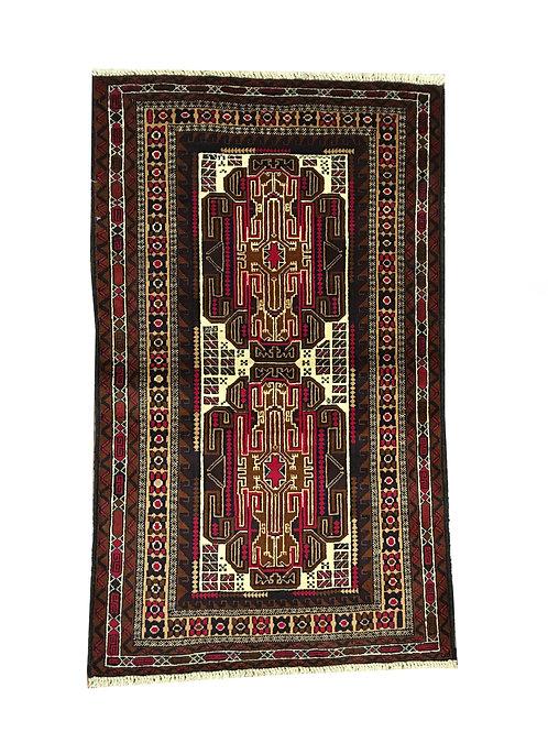 "10346 Belluchi 2' 8"" X  4' 7"" Wool Pakistani Area Rug"
