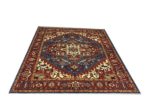 "10993 Tribal 8' 3"" X  9'10"" Wool Afg Area Rug"