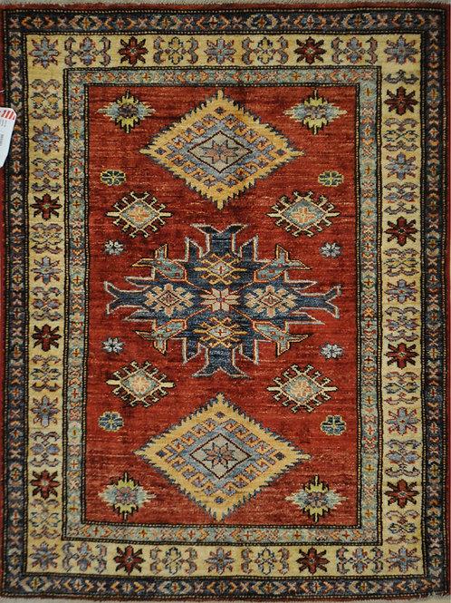 """3351 KAZAK  3' 0"""" X  3' 10"""" Wool"""