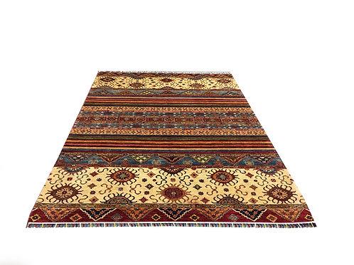 "10711 Sal 6' 8"" X  9' 4"" Wool Afg Area Rug"