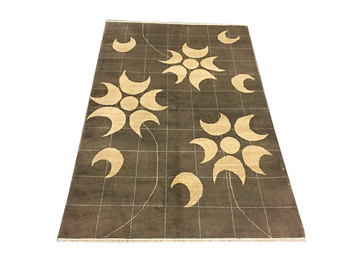 """10835 Contemporary 3'10"""" X  5' 8"""" Wool Afg Area Rug"""