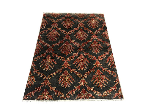 """10127 Contemporary 3' 6"""" X  5' 0"""" Wool Afg Area Rug"""