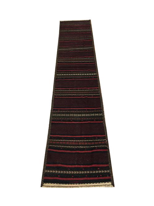"""10844 Kilim 1'10"""" X  9' 6"""" Wool Pakistani Area Rug"""