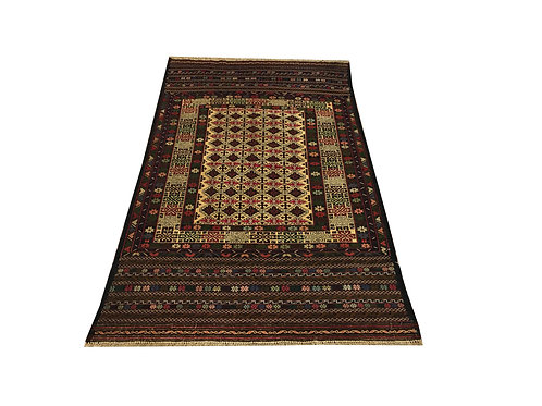 """10494 Fine Kilim 3' 6"""" X  6' 5"""" Wool Pakistani Area Rug"""