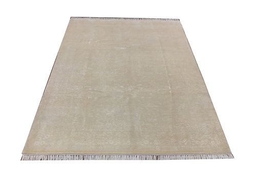 """11042 Floral 6' 7"""" X  9' 0"""" Wool And Artifial Silk  Area Rug"""