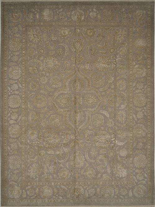 """4099 AURORA 9' 2"""" X 12' 2"""" Wool & Silk"""