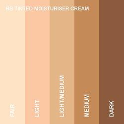 BB Tinted Moisturiser Cream Shade Guide
