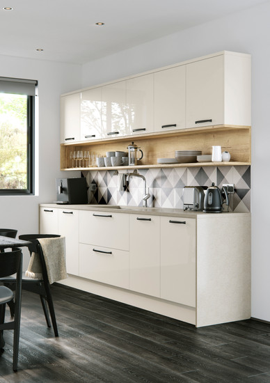 Cosdon - Gloss Porcelain & Halifax Oak -