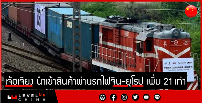 เจ้อเจียง นำเข้าสินค้าผ่านรถไฟจีน-ยุโรป เพิ่ม 21 เท่า