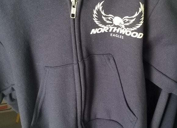 Navy Zip up Sweatshirt, Adult