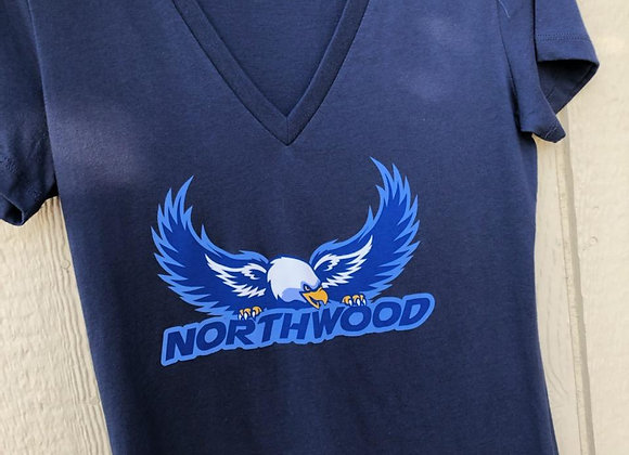 Navy V-Neck Tee, Ladies