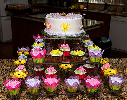 Spring Flower Garden Cupcake Display Cupcakes Themed Cakes Done Wright Grapevine Dallas Ft