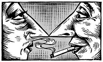 libé, libération, illustration, dessin, gravure, lutte anti tabac, tabagisme passif