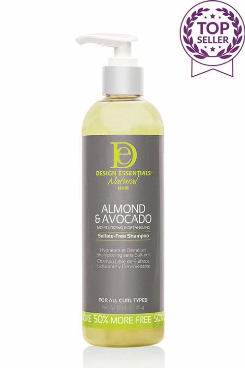 DE Almond & Avocado M&D Sulfate Free Shampoo