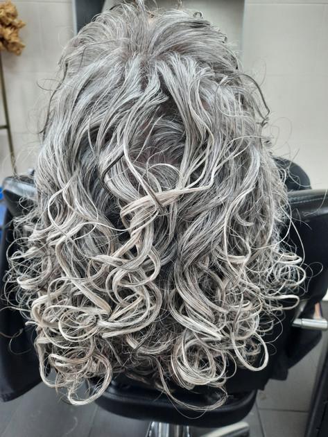 Curly Grey Curls