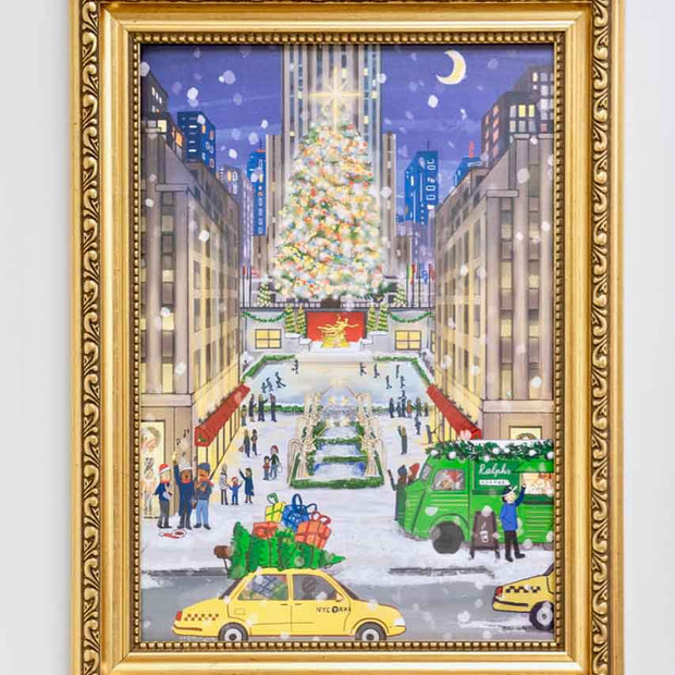 New York City Christmas Poster