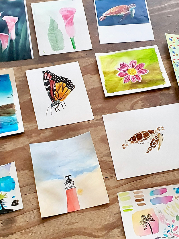 Watercolour & Wine Workshop Texel
