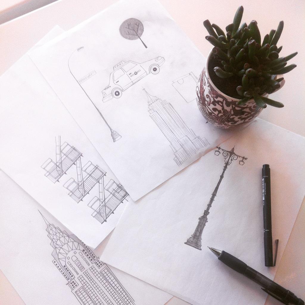 Totebag sketch