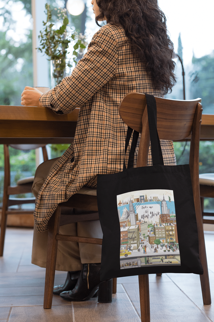WLNY tote-bag on chair