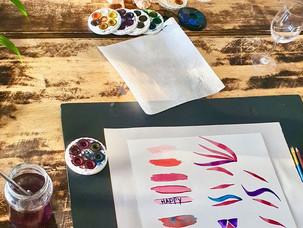 Watercolour practise exercises