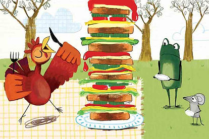 Childrens Book Illustrations by Malou Zuidema the Little Red Hen