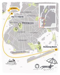 Illustrated Map for New York City Rockaway Beach