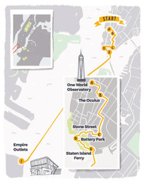 Illustrated Map for New York City - Lower Manhattan
