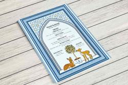 Wedding invitation/ Menu