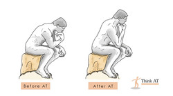The thinking having good posture