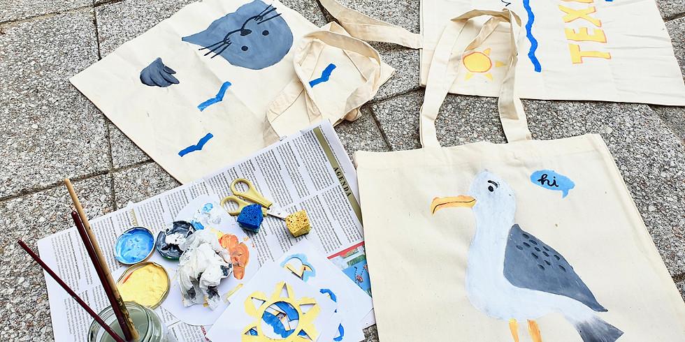 Kids Workshop - Stencil je eigen Texel Tas - 18|08 om 15uur