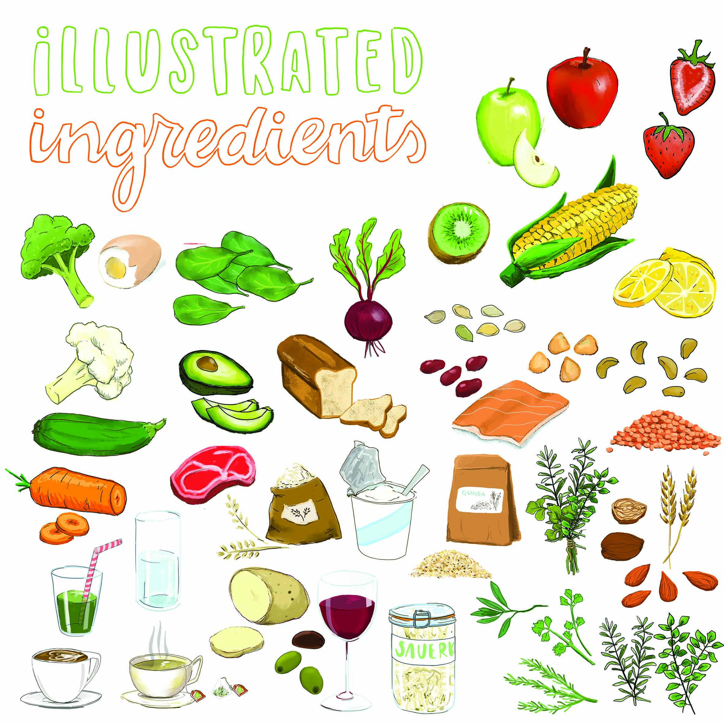 Ingredient illustrations - ALl