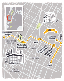 Illustrated Map for New York City - Friends